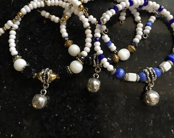 Baseball Charm Bracelet, Sports charm Bracelet, sports bracelet, Womens sports bracelets, ball  sports charms, charm wire wrap bracelet
