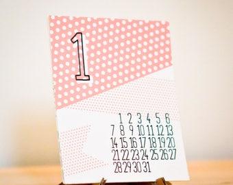 PRINTABLE :  Mini Desk Calendar 2018