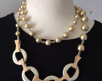 Vintage c.1980 Signed Designer Stephen DWECK Long Sterling Silver Necklace Weighs 180 grams! Solid Sterling -  One Of A Kind