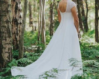 Pippa Wedding Dress Lace Ivory Backless