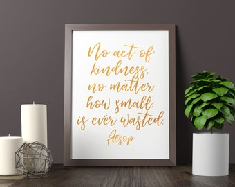 Custom Motivational Quote Real Gold Foil Print   A4/A5/A6   Hand Lettered Calligraphy Print Wall Art Home Decor Gift Shiny Chic Personalised