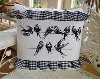 Pillow Cover Swallows
