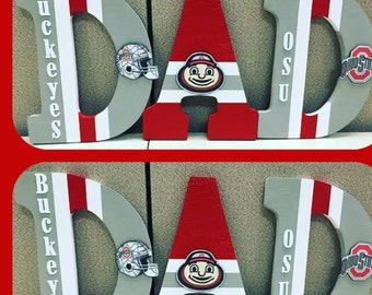 Ohio State Wooden Letters