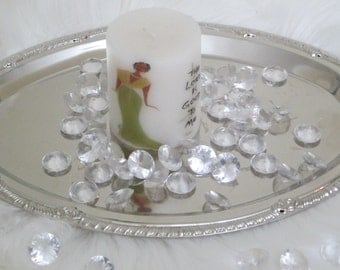 "Decorative Christian Candle,""The Lord is Good Lady"", communion candles, wedding candles"