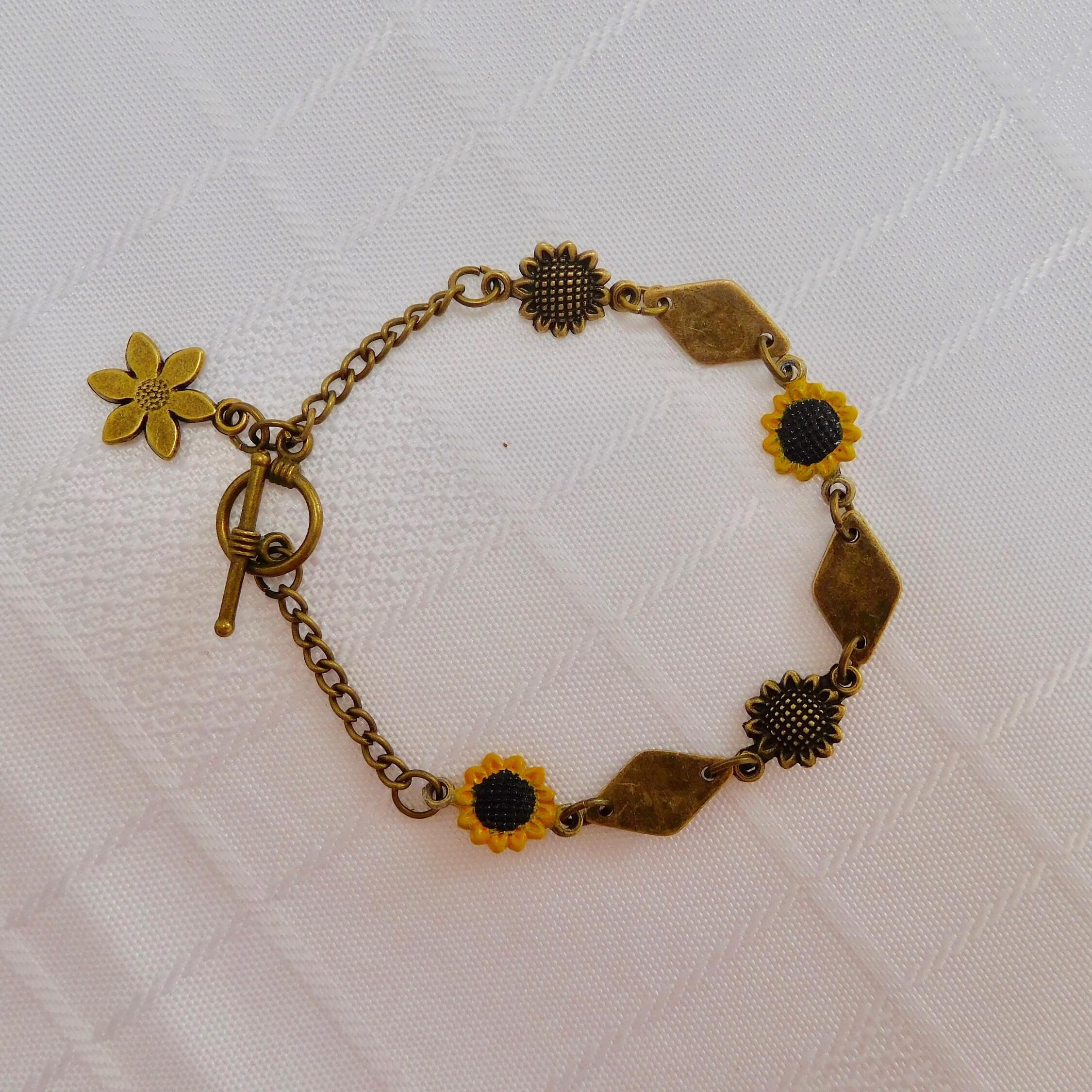 Charm Bracelet - SUNFLOWER AyYZVb