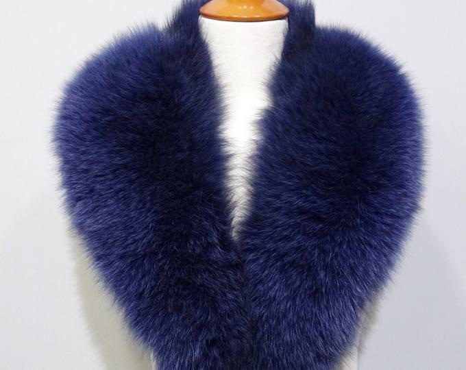 Beautiful Blue Fox Fur Collar F806