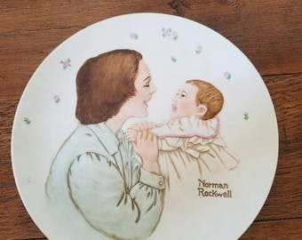 Norman Rockwell Mother plate...limited edition...1982...porcelain