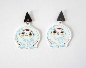 The inuit boy Serguis earrings