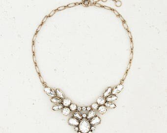 Crystal Clear Wedding and Bridesmaid Petite Statement Necklace