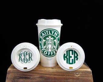 Monogrammed Personalized Custom Starbucks Coffee / Drink Cup /  Mug / Tumbler - Perfect Gift Christmas, Teacher and Holiday Stocking Stuffer