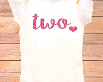 Two Year Old Birthday Shirt, Second Birthday Girl Shirt, 2 Year Birthday Shirt, 2nd Birthday Shirt, Birthday Girl Outfit, 2nd Birthday
