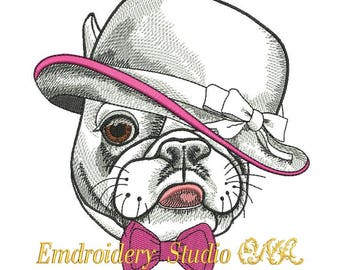 """Machine embroidery design  """"Mister Mops"""" - embroidery dog - for white and pastel shades  materials - mops - dog"""