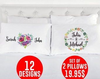 Couples pillowcase / Couples pillow cases / Couples pillows / Couples pillowcases / Couples gifts / Wedding pillow / Anniversary gifts