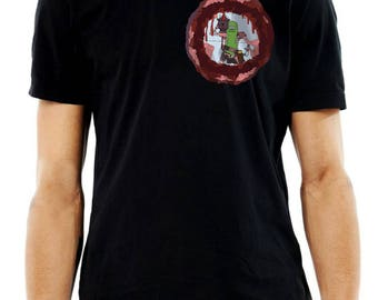New Pickle Rick Laser Pocket T-Shirt Rick & Morty Comedy Shirt