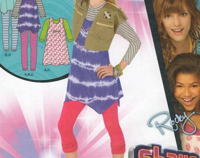 FREE US SHIP Simplicity 1894 Girls Disney Shake It Up Outfit CeCe Rocky Top Leggings Vest dress Size 7 8 10 12 14 16 Sewing Pattern Uncut