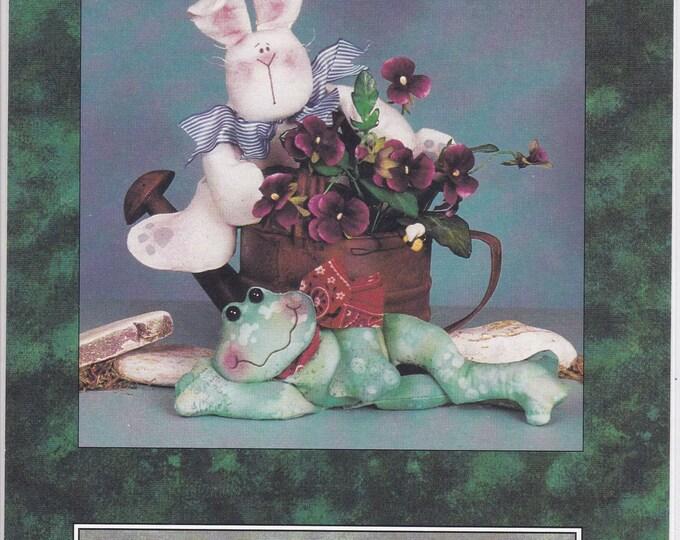 FREE US SHIP Cotton Ginnys Craft Sewing Pattern New 1998 Wee Wabbitt & Fribbit Frog Rabbit Bunny Dolls Beanbag Cynthia Rose Designer