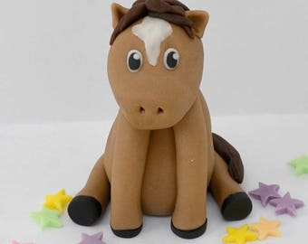 Handmade edible Horse, Pony Personalised Cake Topper, birthday