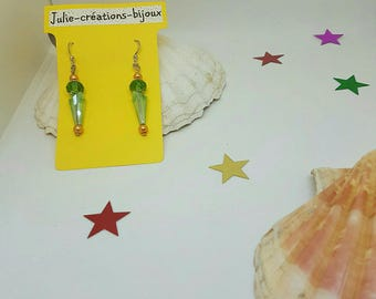 Glass and Crystal bead earrings