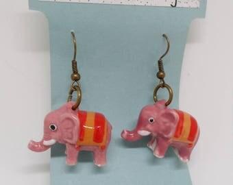 Porcelain Elephant earrings