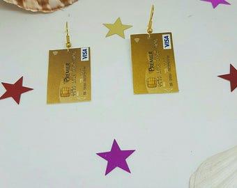 Earrings card paper Bank