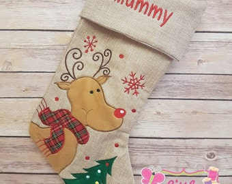 Personalized christmas stocking 4 styles , Christmas stocking , personalised stocking , santa sack , first Christmas , Christmas decoration