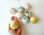 Cat toy felted wool  ball- SALE jumbo, big ball, cat gift,, pastel colors, natural materials,  silent, animalove