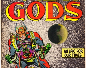 The New Gods 1, Early Darkseid comic, KEY Jack Kirby art, 1st Orion book, Bronze Age. 1971 DC Comics in FVF (7.0)