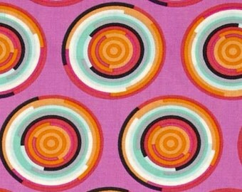 Tula Pink Chipper The Hypnotizer Sorbet; 1/2 yd cotton woven fabric