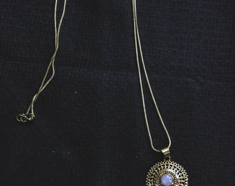 Bronze DreamCatcher Moonstone - Chain - Tribal - Ethnic - Boho - Gypsy - Design - Nativ American - Travel - Spirit - Moon - Wolf - Pixies