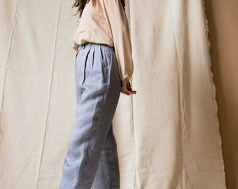 1990s Saks Fifth Avenue French Linen Trousers