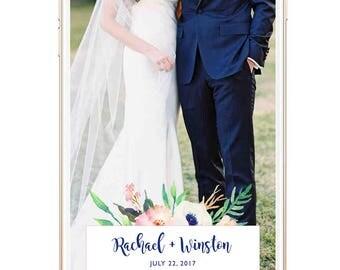 Wedding Snap Chat Filter, Snapchat Filter Wedding, Snapchat Geofilter Wedding, Floral, Wedding Snapchat Filter, Custom Snapchat Filter