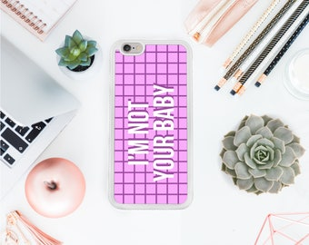 Baby Iphone 7 plus case geometric pattern case pink phone case birthday gift /gift for her / best friend gift / Valentines day  OT8