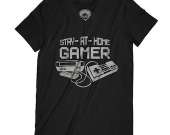 Fathers day shirt gamer shirt Stay at home gamer Funny Gamer t-shirt Geeky t shirt gift Birthday gift Geeky Socially awkward shirt APV19