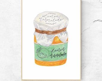 Lemon Marmalade - Mandie's Food Illustration Art Print