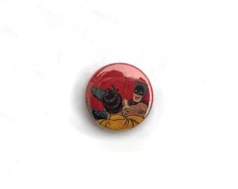 Batman Slapping Robin Meme 1 inch pinback button // Meme Pin // Funny, Unique, Pop Culture Buttons
