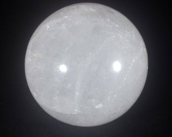LARGE CLEAR QUARTZ Sphere Natural Stone Hand Carved Gemstone Sphere [18]