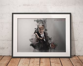 Peter Capaldi Doctor who print Doctor who poster wall art home decor