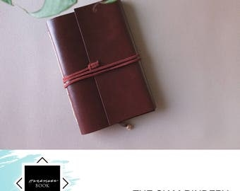 Hand-bound faux leather notebook - Ready to ship