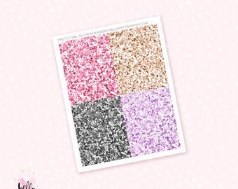 Pretty Girl Glitter Headers - 28 planner stickers / for the Erin Condren or Happy Planner