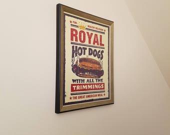 Royal Hotdogs - Modern Art Print