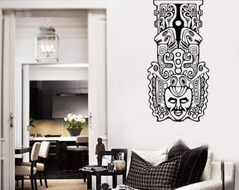 Wall Art Mural Aztec Totem Poles North American Ethnic Decor For Home  (#2728dn)