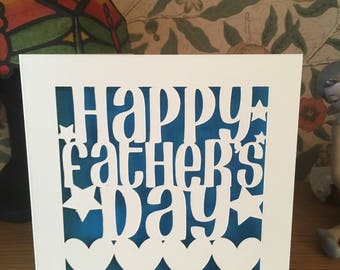Father's Day Card  - Papercut - Daddy - Dad - Pop - Pops - Pa  - Grandad - Grandpa - Father's Day Hearts