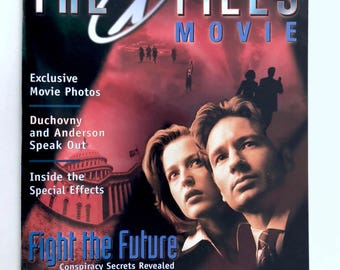 X-Files Movie Magazine, Fight the Future, Vintage, Mulder, Scully, Cigarette Smoking Man, Behind the Scenes, Mythology, Conspiracy Theory