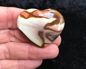 Polychrome Jasper Heart From Madagascar