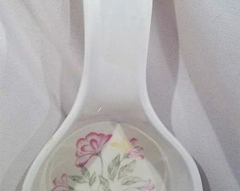Reston Lloyd Ltd Eurita Spoon Rest Melamine Vintage Flower Floral Design