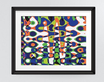 Bold colourful abstract wall print, home decor, office art printable INSTANT DOWNLOAD