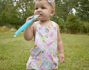 Sweet Treats Romper, Donut Romper, First Birthday, Cake Smash Outfit, Toddler, Baby Rompers, Newborn Romper