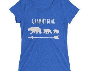 Grammy Bear And Two Bear Cubs Ladies' short sleeve t-shirt