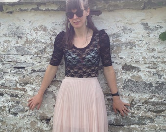 Powder pink Pleated Skirt