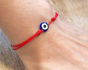 Evil Eye Red String Protection Amulet Protection Bracelet Red String Bracelet Kabbalah Evil Eye Bracelet Mens Womens Lucky Eye Birthday Gift